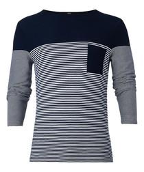 Garwood navy & grey cotton jumper