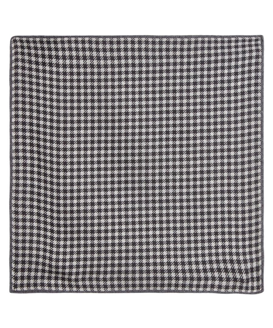 Black pure silk check pocket square Sale - Hugo Boss