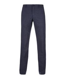 Hakan navy casual trousers