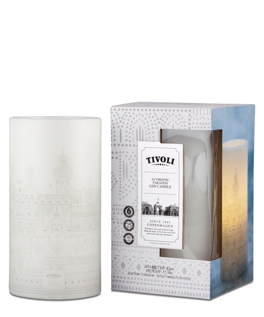 White LED wax candle 15cm Sale - Tivoli Lights