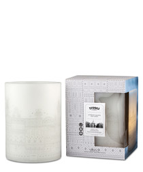 White LED wax candle 20cm