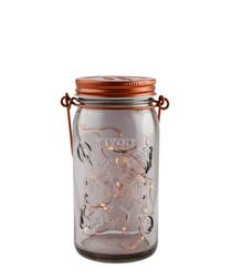 Copper-tone smoked LED jar light