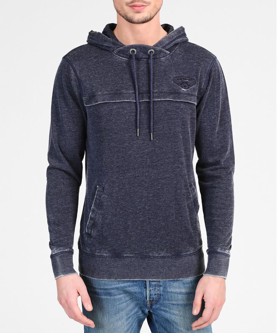 Marine cotton blend hoodie Sale - DreiMaster