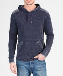 Marine cotton blend hoodie