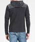 Black cotton blend hoodie Sale - DreiMaster Sale