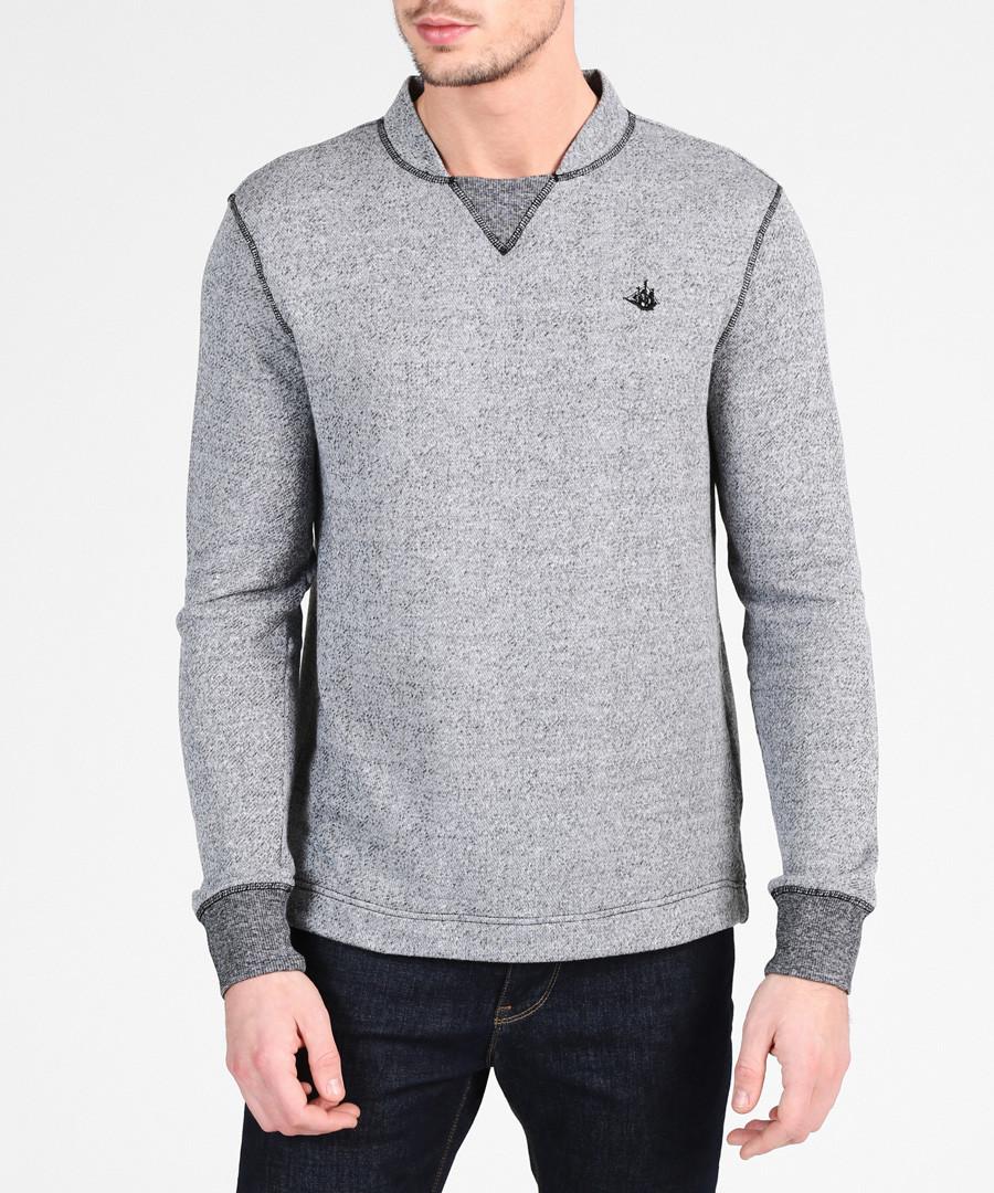 Grey melange cotton blend jumper Sale - DreiMaster