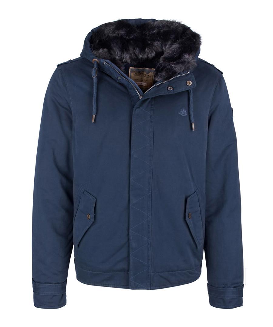 Marine cotton blend hooded jacket Sale - DreiMaster