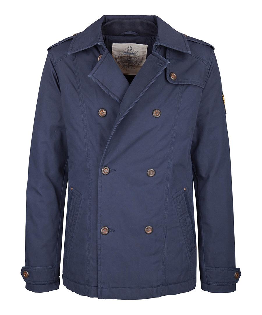 Marine cotton double breasted coat Sale - DreiMaster