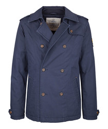 Marine cotton double breasted coat