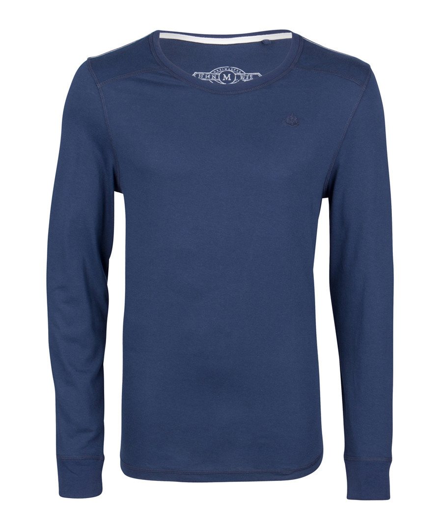Marine pure cotton long sleeve top Sale - DreiMaster