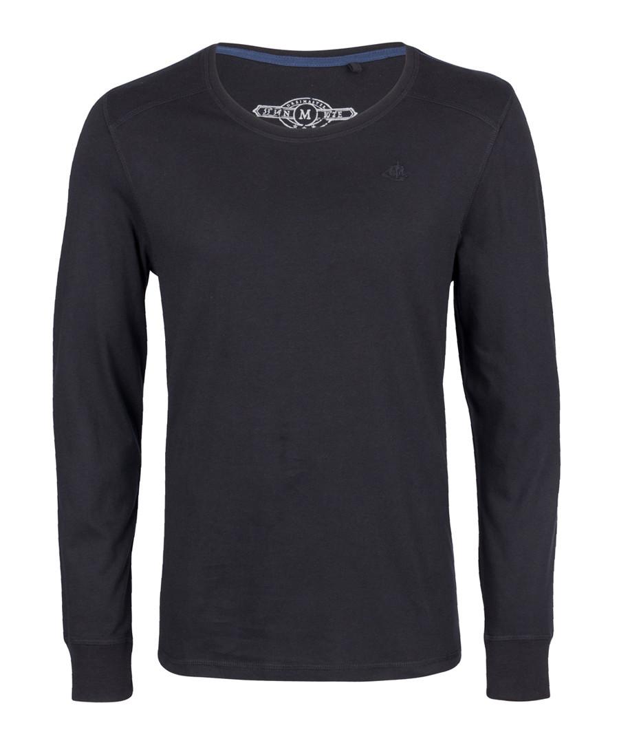 Black pure cotton long sleeve top Sale - DreiMaster