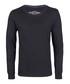 Black pure cotton long sleeve top Sale - DreiMaster Sale