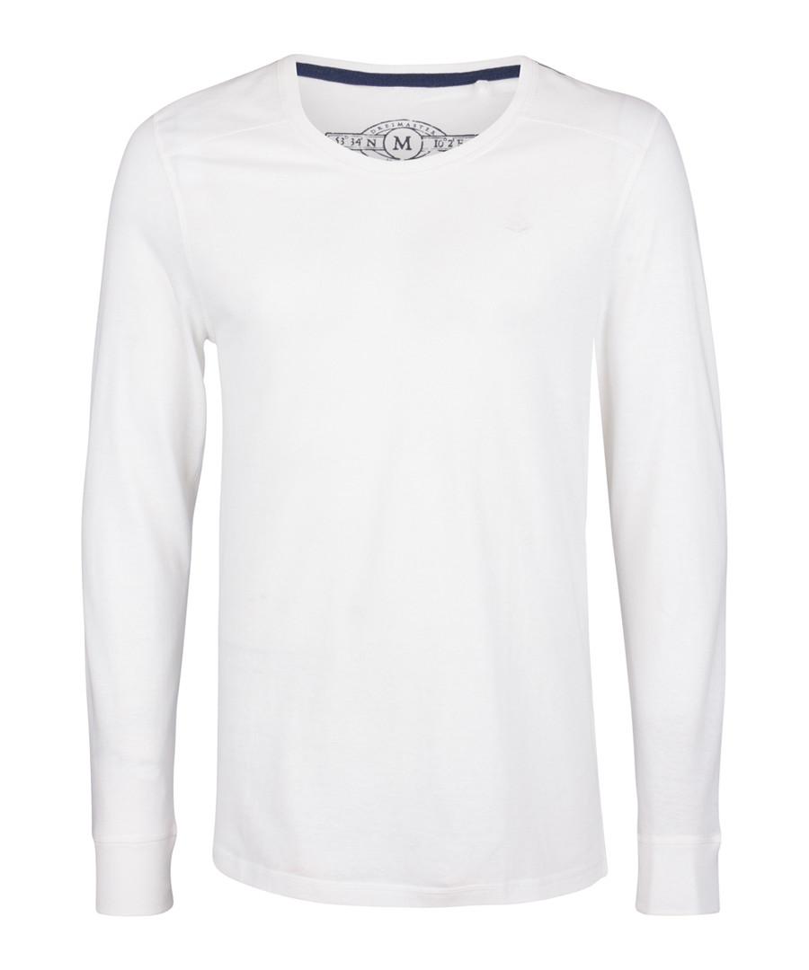 White pure cotton long sleeve top Sale - DreiMaster
