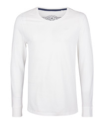 White pure cotton long sleeve top