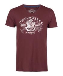 Bordeaux pure cotton logo T-shirt