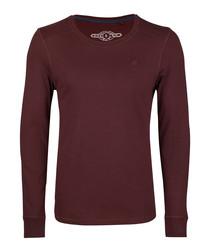 Bordeaux pure cotton long sleeve top