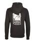 Black cotton blend zip-up hoodie Sale - DreiMaster Sale