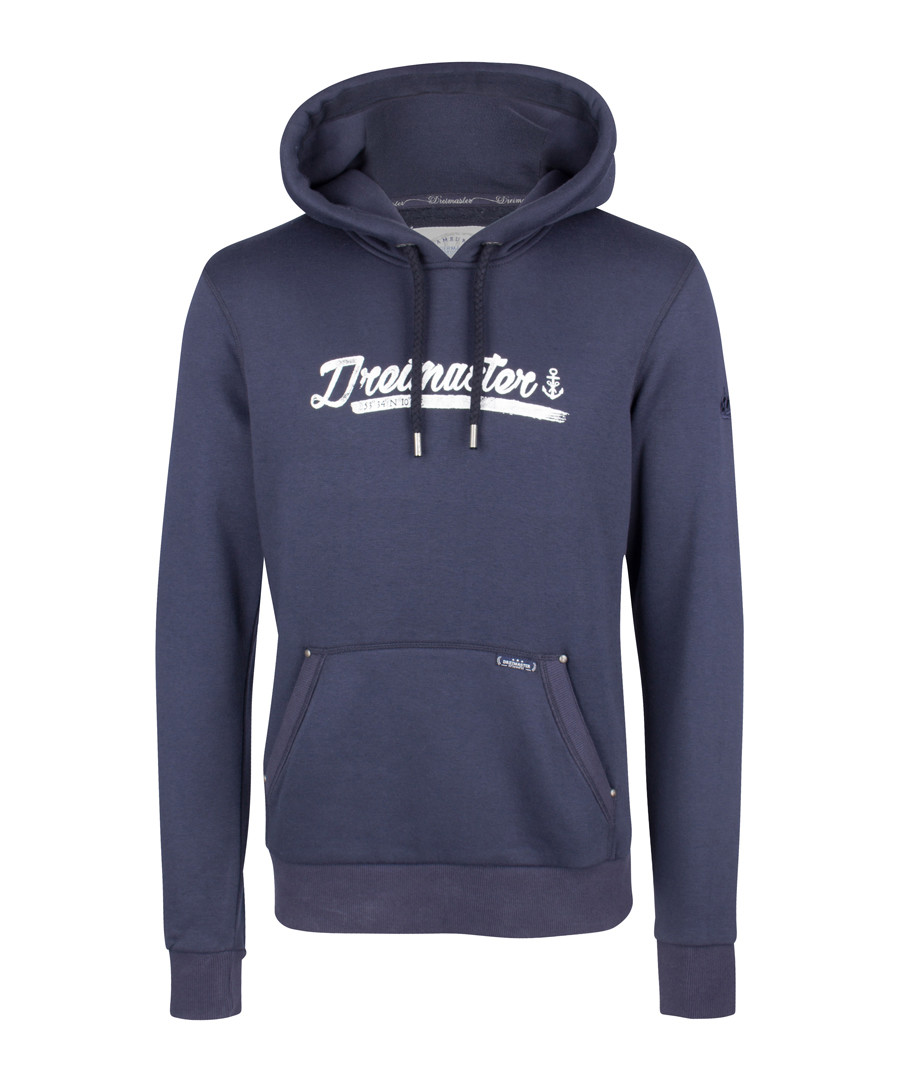 Marine cotton blend logo hoodie Sale - DreiMaster
