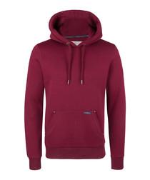 Bordeaux cotton blend hoodie