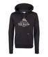 Black cotton blend logo hoodie Sale - DreiMaster Sale