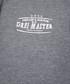 Dark grey cotton blend zip-up hoodie Sale - DreiMaster Sale