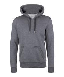 Dark grey cotton blend hoodie
