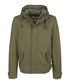 Olive pure cotton hooded jacket Sale - DreiMaster Sale