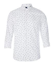 White cotton long sleeve shirt
