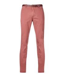 Old pink cotton chinos