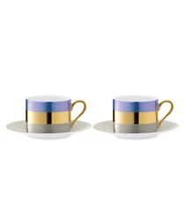 Bangle Teacup and Saucer 0.25L x 2
