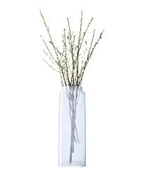 Opaline glass tall vase 70cm