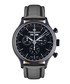 Tournante black steel & leather watch Sale - mathieu legrand Sale