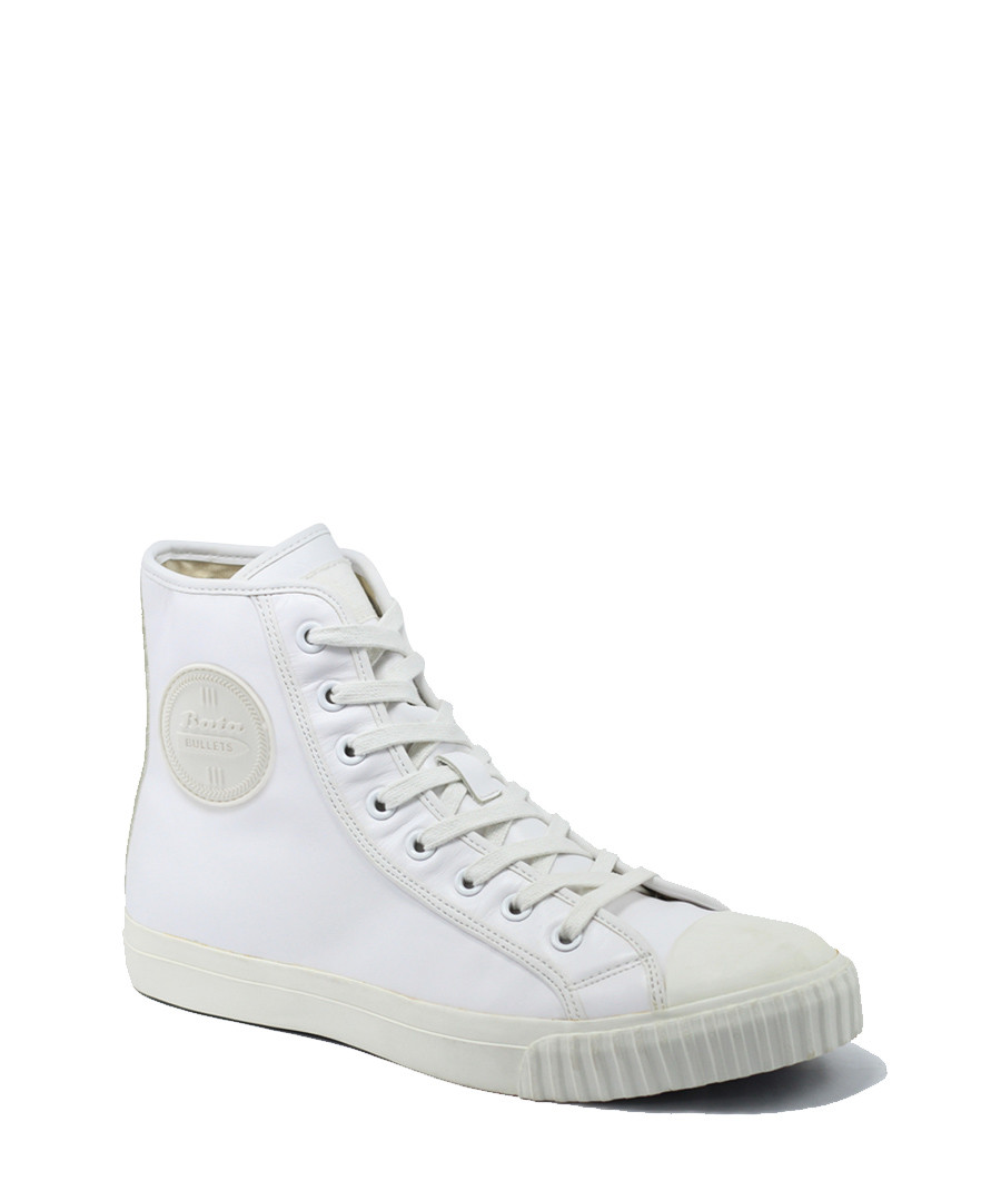 White leather high top sneakers Sale - BATA