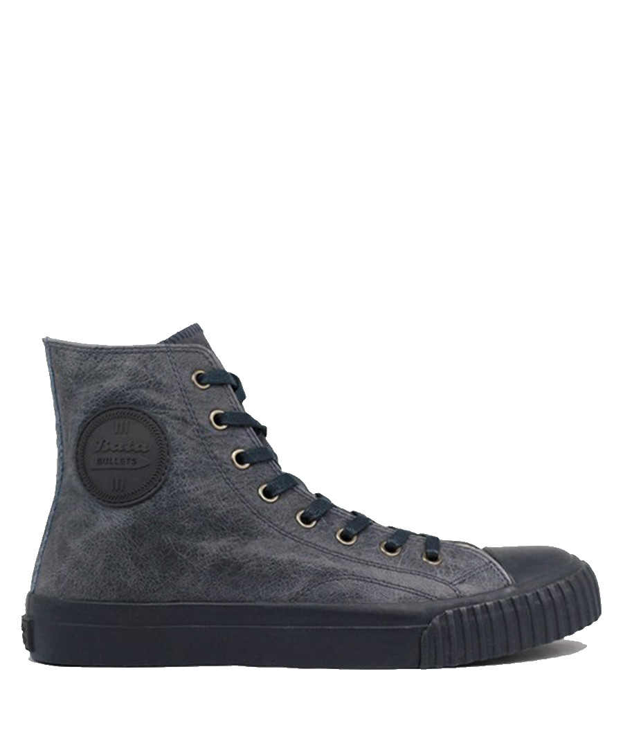 Grey leather high top sneakers Sale - BATA