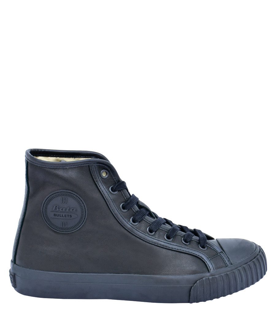 Black leather high top sneakers Sale - BATA