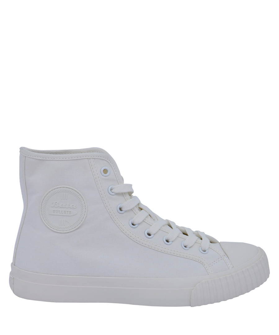 Off-white canvas high top sneakers Sale - BATA