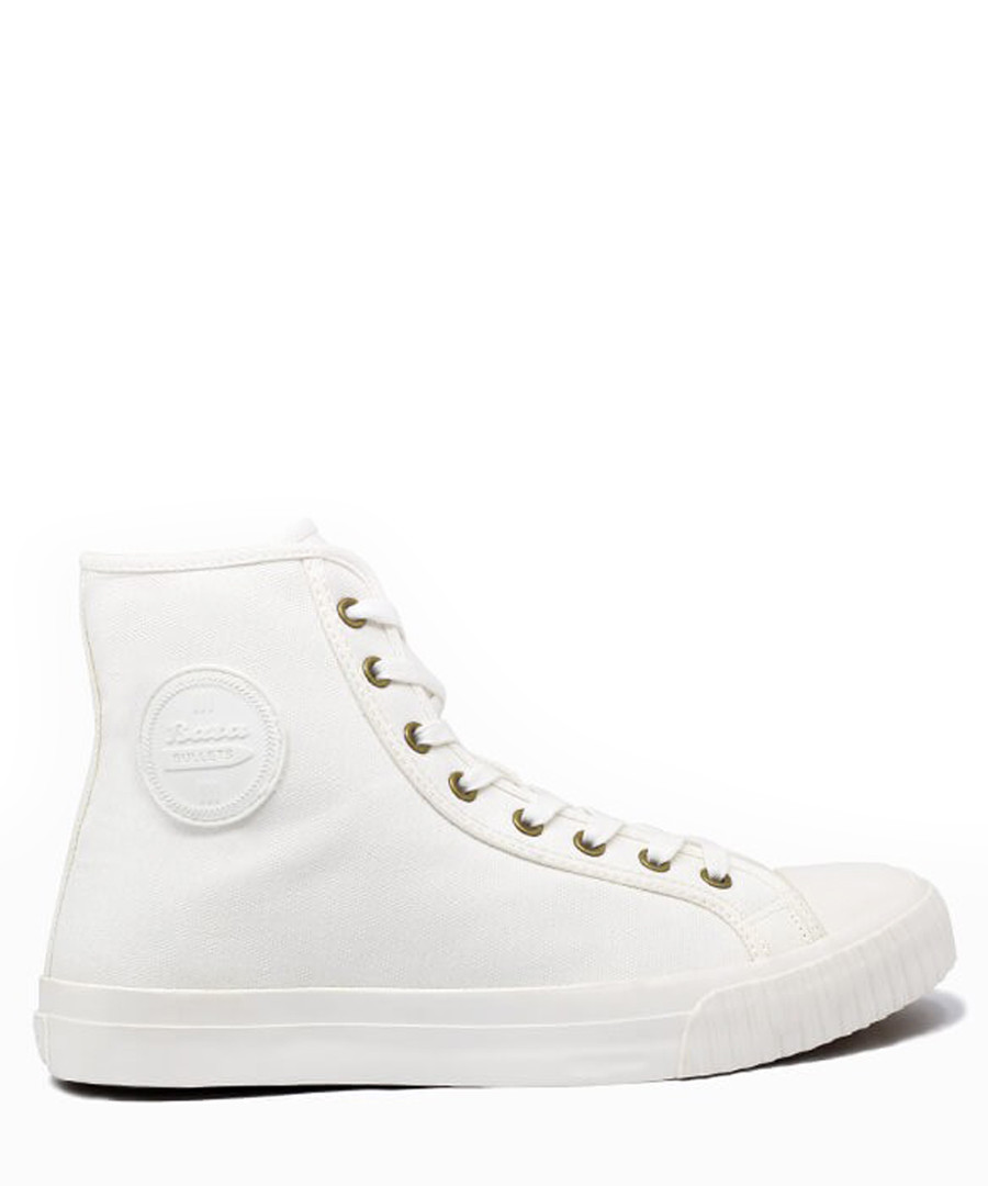 White canvas high top sneakers Sale - BATA