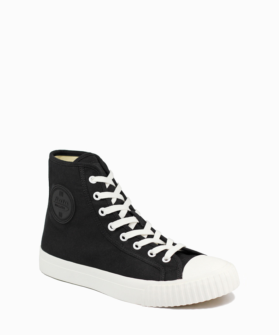 Black & white canvas high top sneakers Sale - BATA
