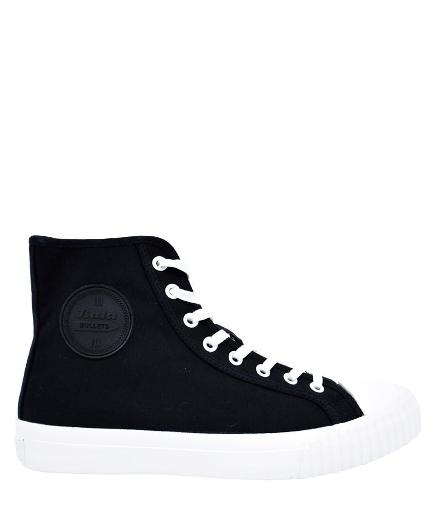 Black & white canvas high top sneakers Sale - BATA