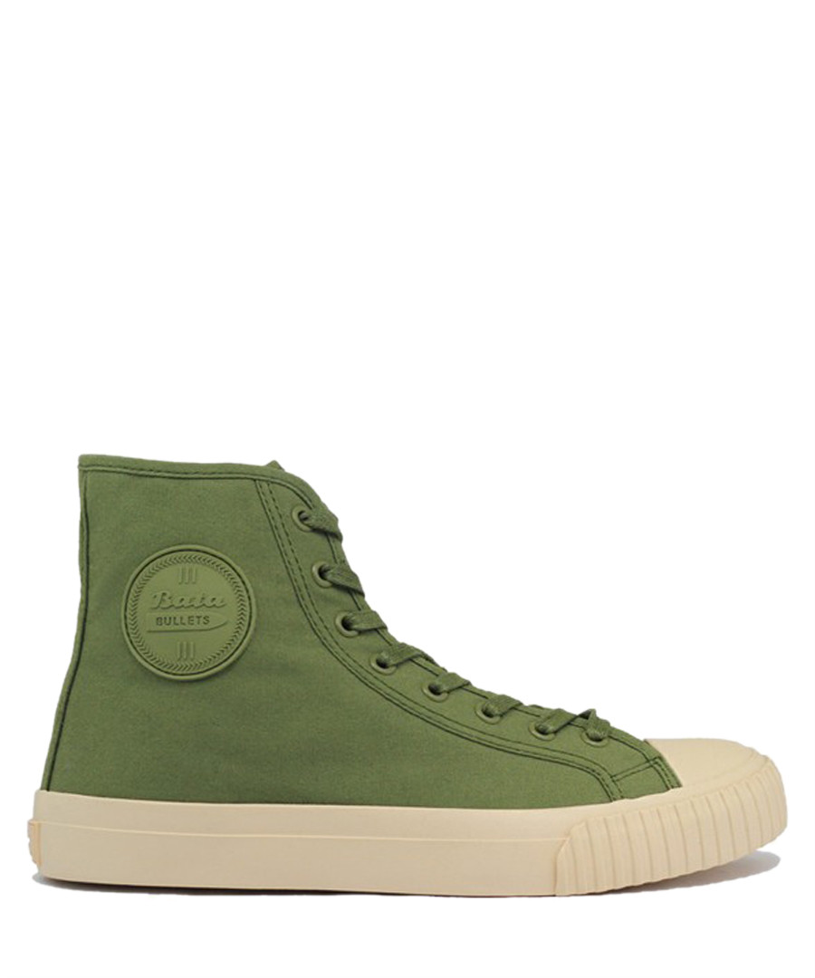 Olive canvas high top sneakers Sale - BATA
