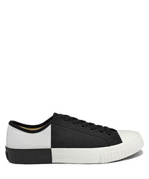 Black & white canvas sneakers