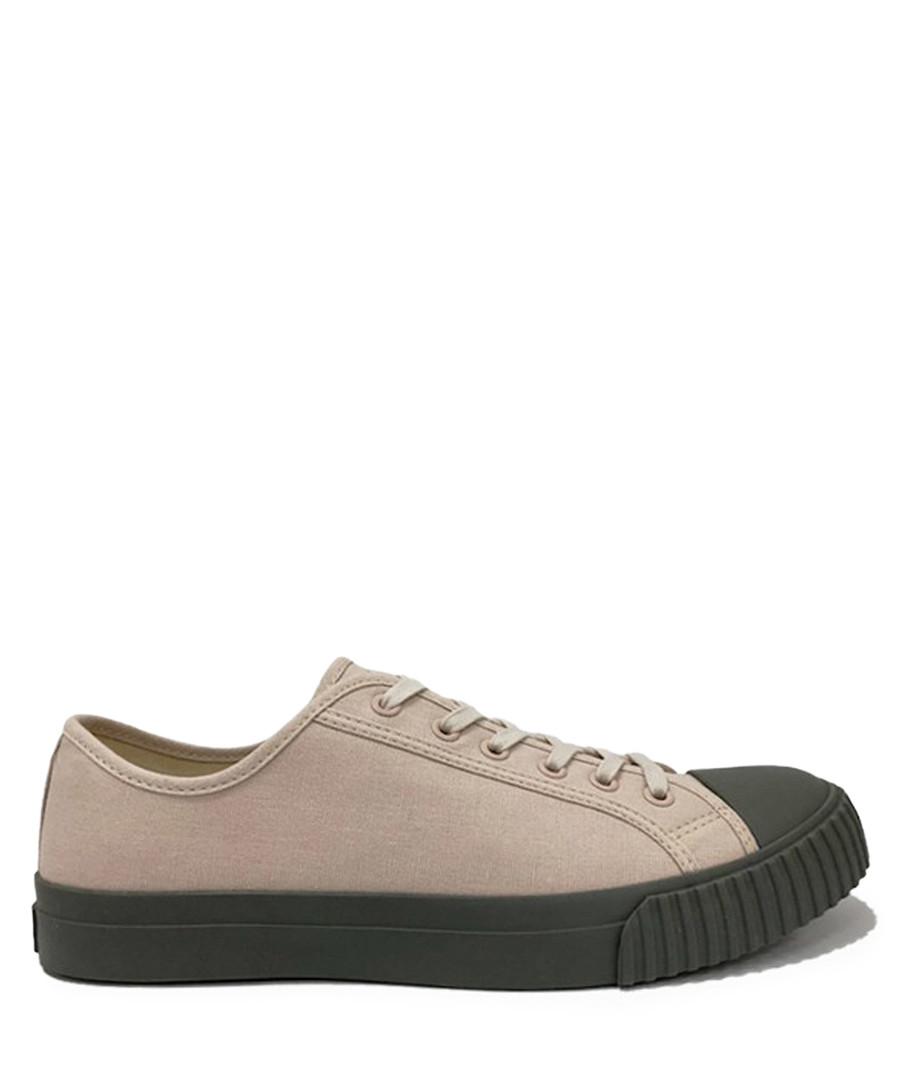 Beige & grey canvas sneakers Sale - BATA