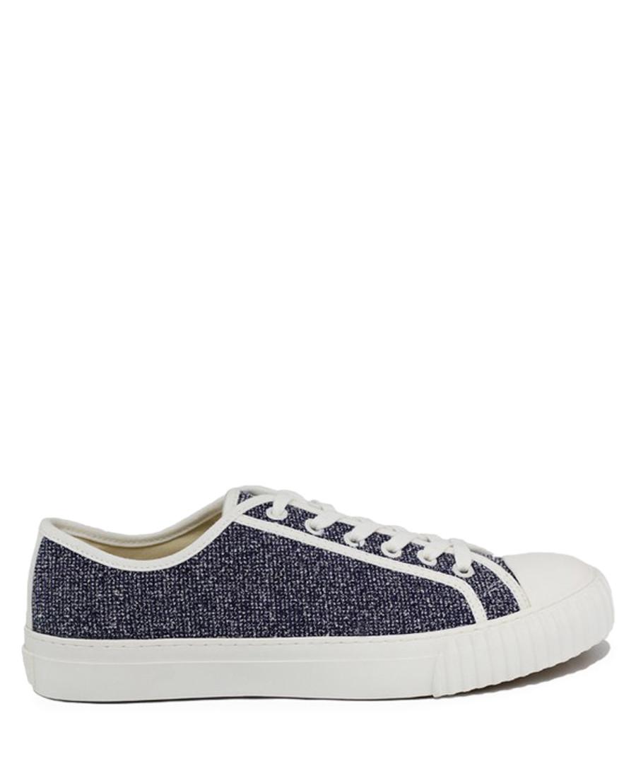 Navy & white knit sneakers Sale - BATA