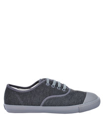 Grey felt tennis sneakers