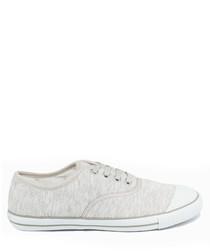 Light grey & white felt tennis sneakers