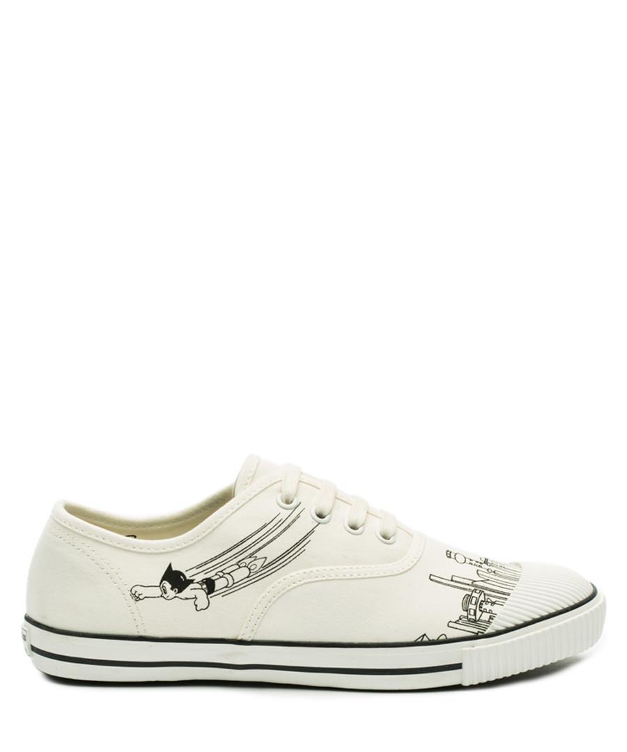 White & black canvas tennis sneakers Sale - BATA