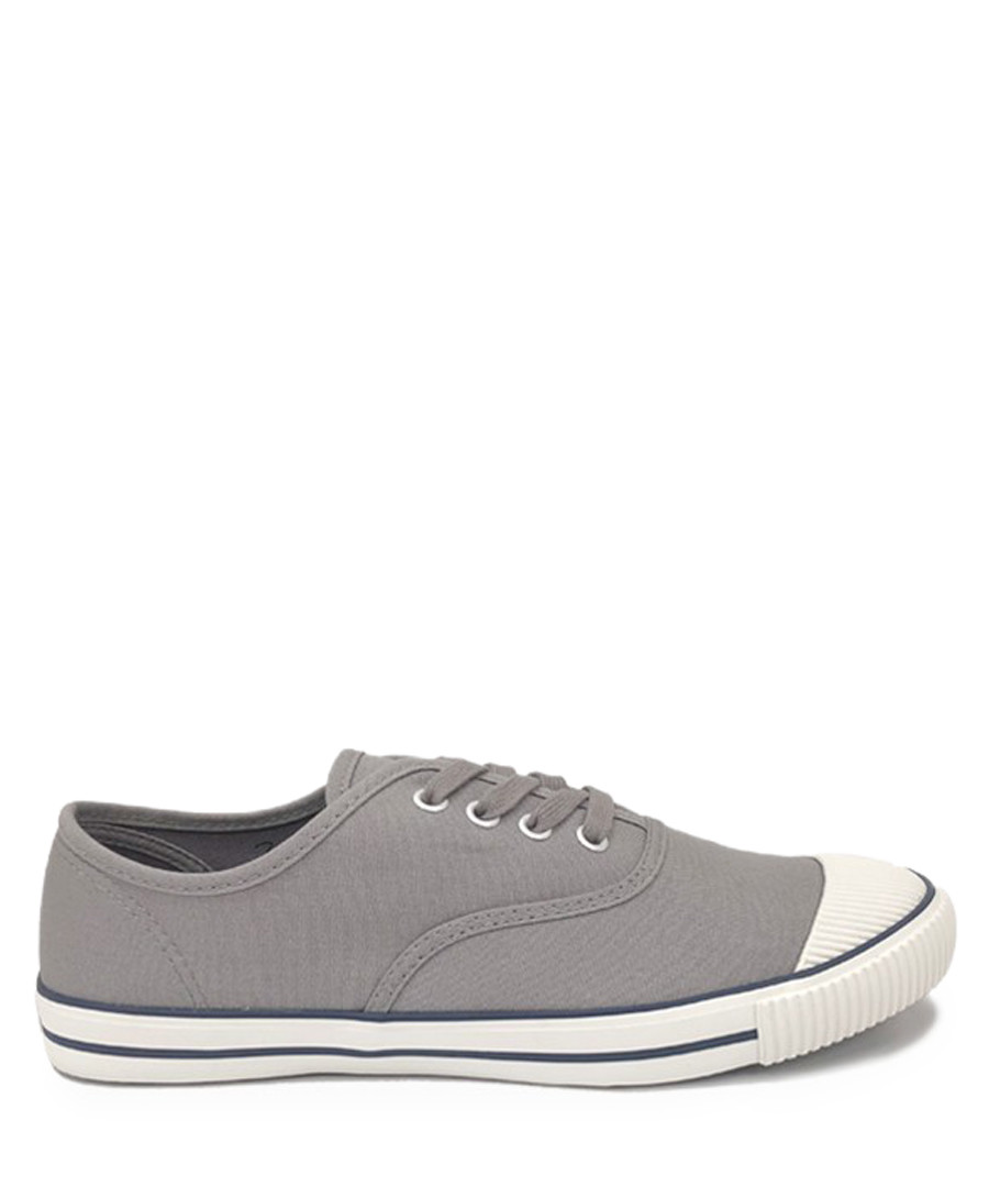 Grey canvas tennis sneakers Sale - BATA