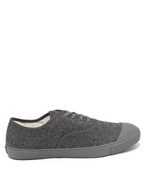 Grey felt tennis sneakers