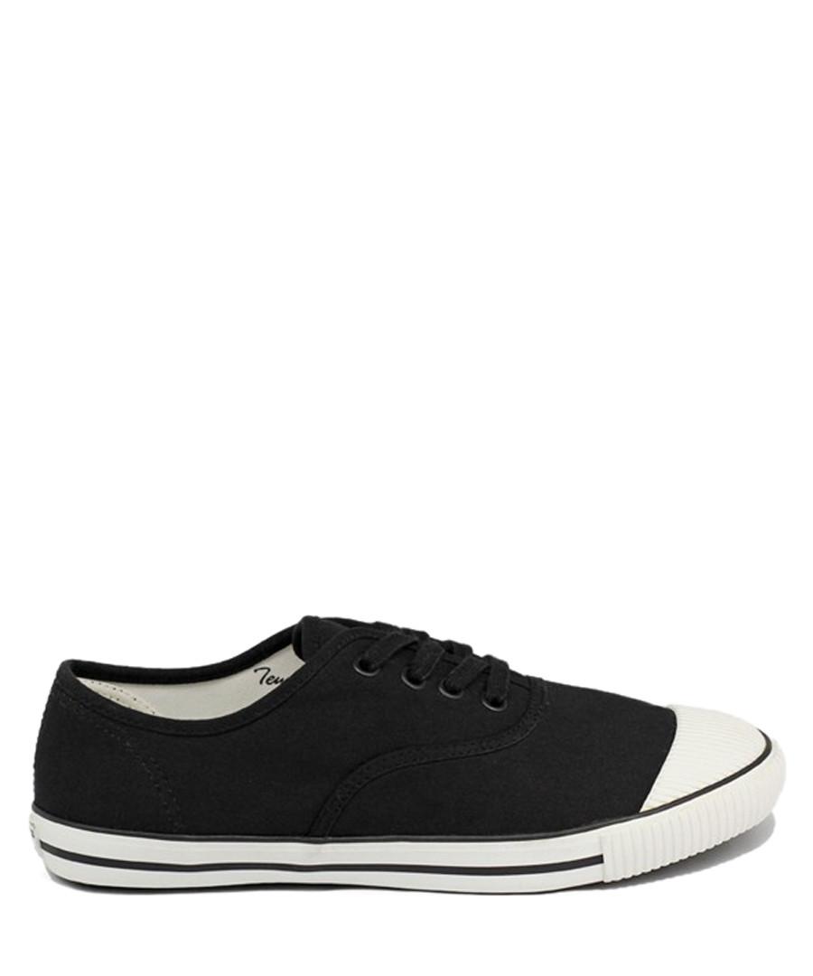 Black canvas tennis sneakers Sale - BATA