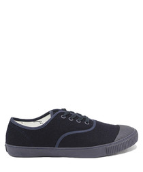 Blue wool tennis sneakers